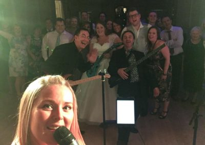 Group selfie with Gotcha! Band at Eshott Hall